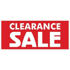 Large Clearance Sale Poster