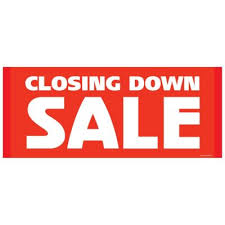 Large Closing Down Sale Poster