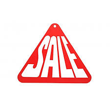 Double Sided Triangle Sale Sign