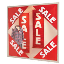 Four Corners Sale Window Poster