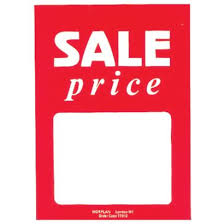 Sale Price Cards