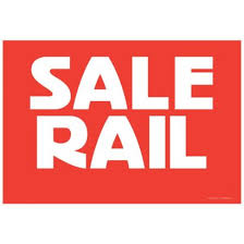 Double sided Sale Rail Card
