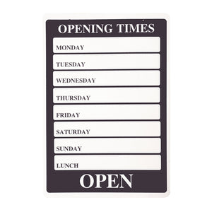 Days Of The Week Open And Closed Sign