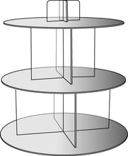 Load image into Gallery viewer, Mirrored Shelf Cascade / Cake stand