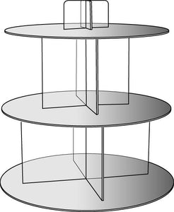 Mirrored Shelf Cascade / Cake stand