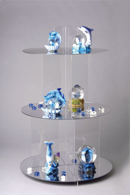 Large Mirrored Shelf Cascade / Cake stand