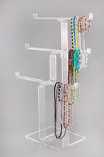 Load image into Gallery viewer, Acrylic Heavy Duty 3 Tier Necklace Stand