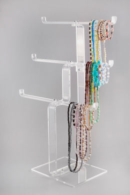 Acrylic Heavy Duty 3 Tier Necklace Stand