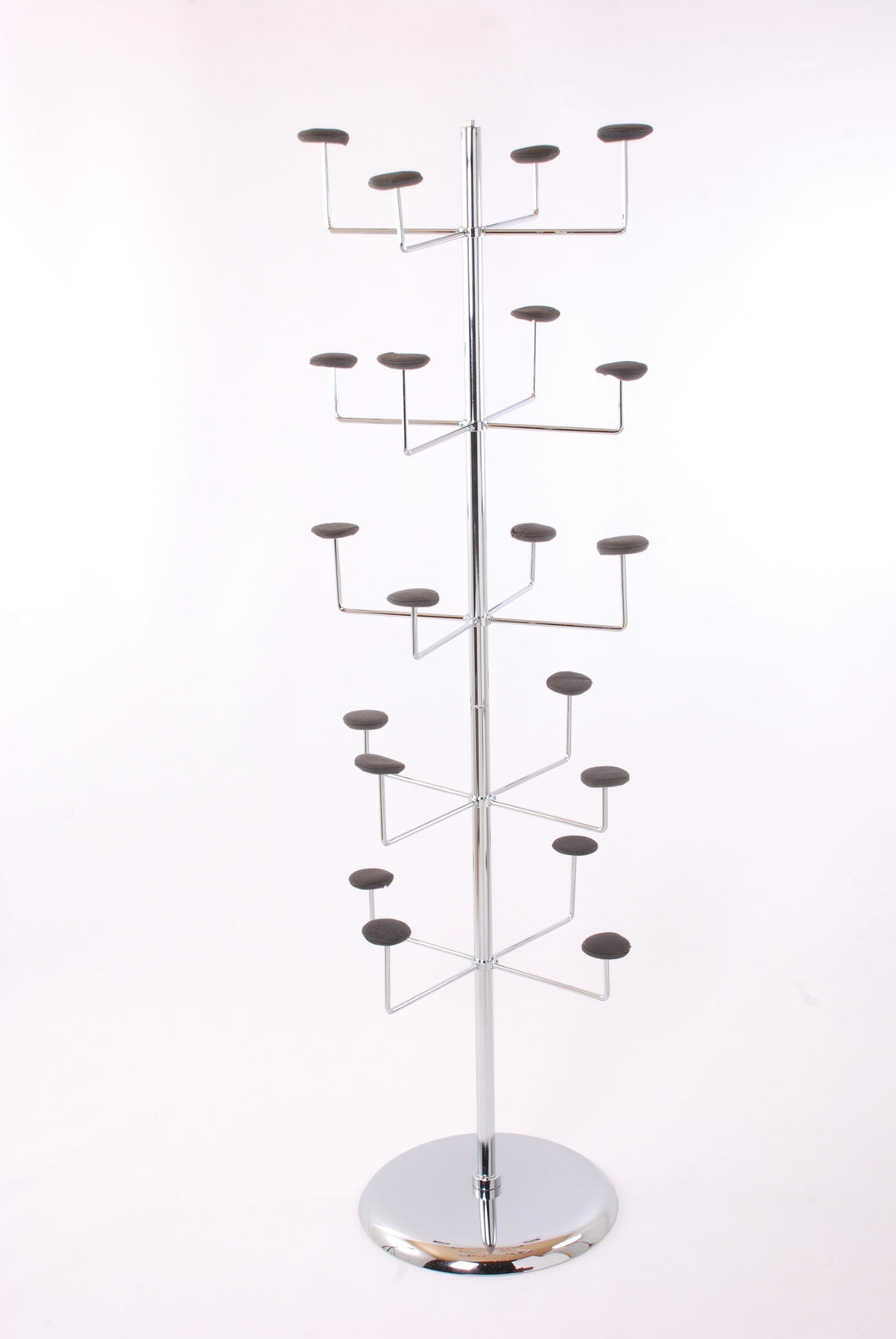 Five Tier Chrome Hat / Millinery Stand
