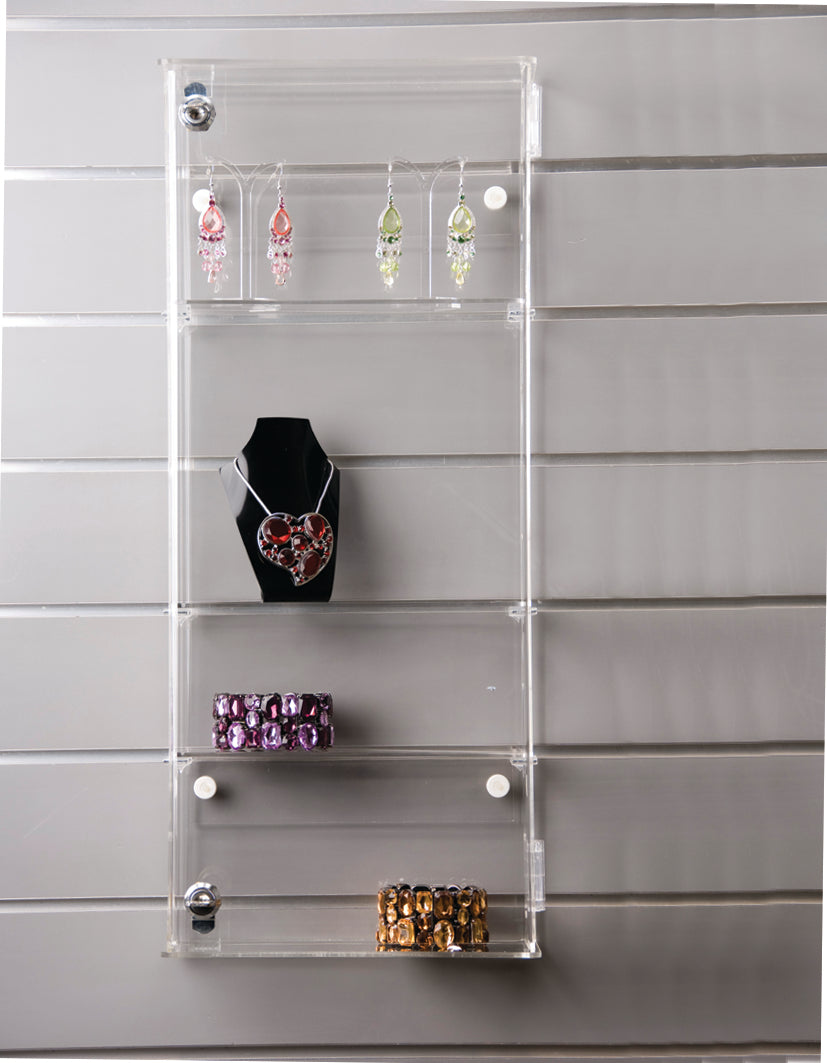 Lockable Acrylic Showcase Wall Fix Display