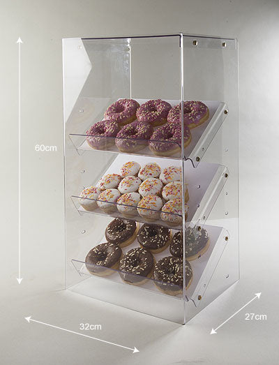 Counter Displayer With Reversible shelves