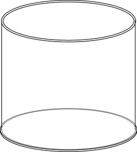Acrylic Circular Display Tub