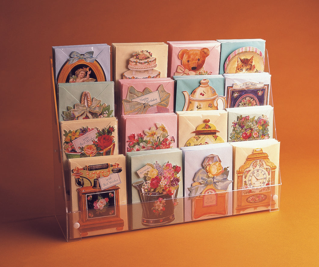 Four Tiered Postcard Display