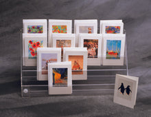 Load image into Gallery viewer, Four Tier Mini Card, Postcard Displayer.