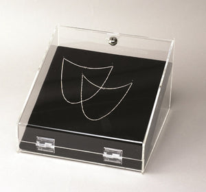 Pin Board Wedge for Lockable Acrylic Wedge Showcase