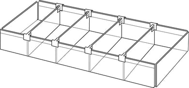 Acrylic Multi Tray with Adjustable Dividers