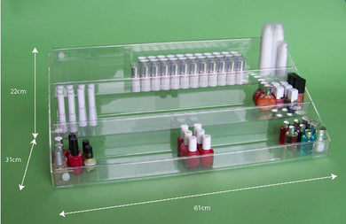Acrylic tiered counter display
