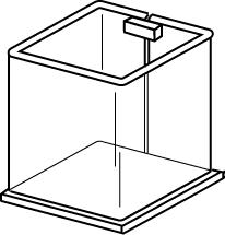 Square Display Tub For Pens or Pencils