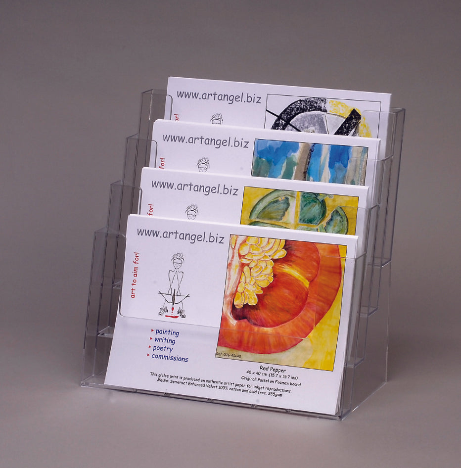 Four Tier A4 Landscape Postcard Holder
