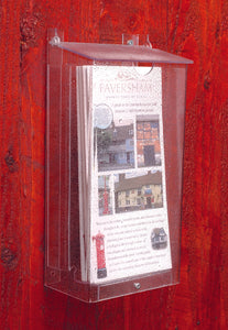 Weather Protected Acrylic Outdoor Leaflet Holder