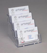 Load image into Gallery viewer, Four Tier Acrylic Landscape Business Card Holder