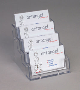 Four Tier Acrylic Landscape Business Card Holder