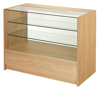 1800mm Wide Three Quarter Glass Display Counter