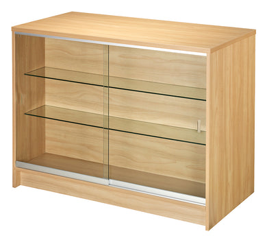 1200mm Wide Front Glass Counter With Rear Storage