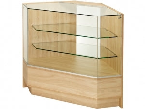 1150mm Wide Angled Corner Glass Display Counter
