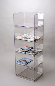 Acrylic Newspaper,Magazine or Light clothing merchandiser