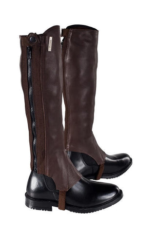 Horze Franci Leather Chaps Dark Brown