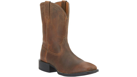 Ariat heritage square toe boots brown