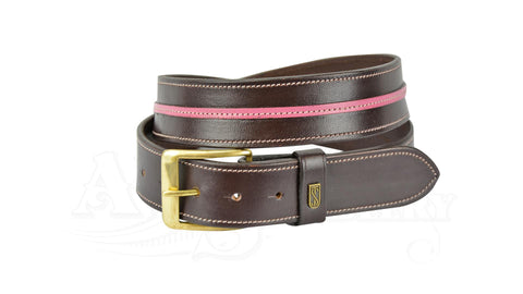 Tredstep Curved Snaffle Belt brown and pink