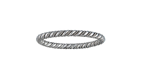 Montana Silver Tone Rope and Wire Coil Bracelet
