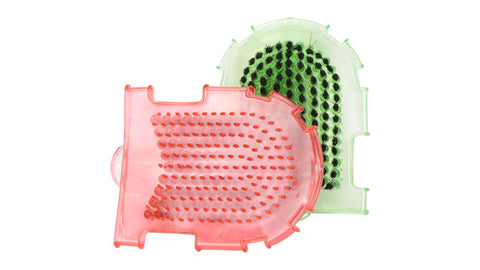 Transparent Washing Mitt with Brush
