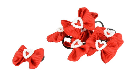 Show Bows Red with Heart