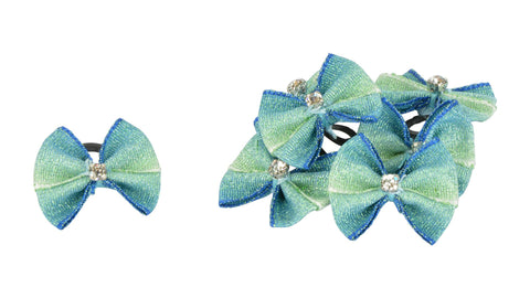 Show Bows Teale with Diamantes