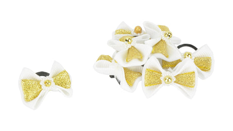 Show Bows White with Pearls