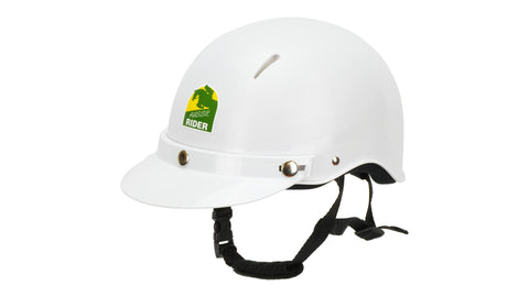 Aussie rider helmet white AS/NZ 3838