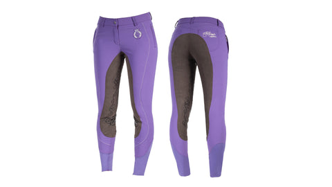 Horze Crescendo Kiana Womens Full Seat Breeches gentian violet silt brown