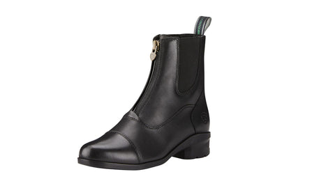 Ariat heritage black zip up boots