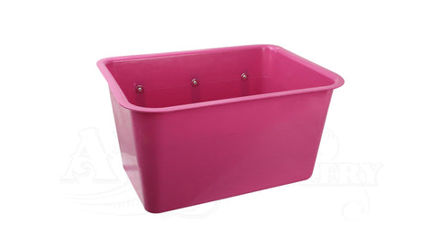 Large Square Feed Bin purple