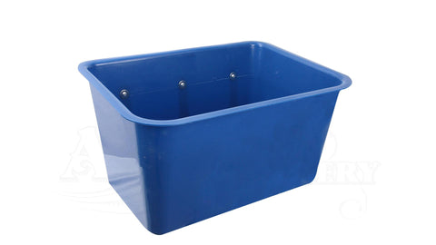 Large Square Feed Bin blue
