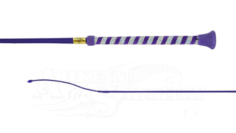 Jeffries Dressage Purple Spiral Glitter Whip