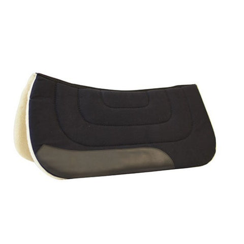 Fleece Lined Saddle Pad Black