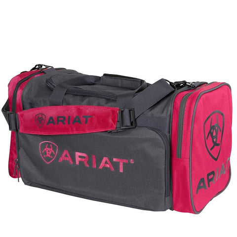 Ariat Junior Gear Bag Pink & Charcoal Grey