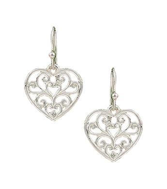 Montana Embossed Heart Ear Rings