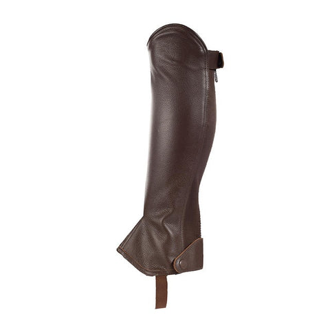 Horze Leather Half Chaps Dark Brown
