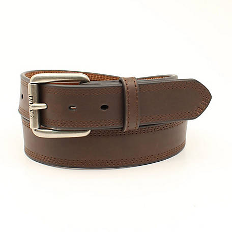 Ariat Unisex Belt Dark Brown Triple Stitch A1034802