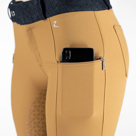 Horze Abrielle Ladies Full Seat Breeches Medal Bronze